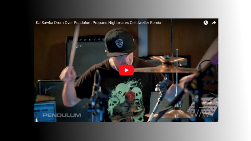 "KJ Sawka Performs Drum Cover of Pendulum's ""Propane Nightmares"" (Celldweller Remix)"